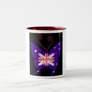 Britischer Diva-Schmetterling Tee Haferl