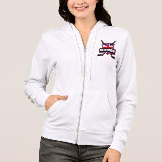 Britischer Eis-Hockey-Logo-ZipHoodie Hoodie