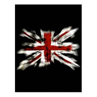 Britischer Flaggen-Explosions-Effekt Postkarte