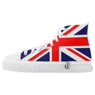 Britischer Flaggen-Gewerkschafts-Jack Hoch-geschnittene Sneaker