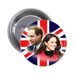 Britischer Flaggen-Knopf Williams u. Kate Anstecknadelbuttons