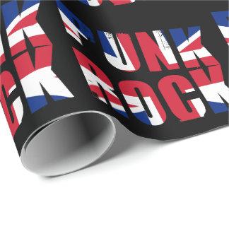 BRITISCHER Flaggen-Punkrock Geschenkpapier