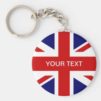Britischer Flaggenschlüsselchain   Gewerkschafts-J Standard Runder Schlüsselanhänger