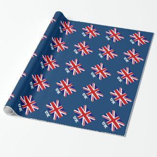 Britischer Flaggenverpackungspapier | Geschenkpapierrolle