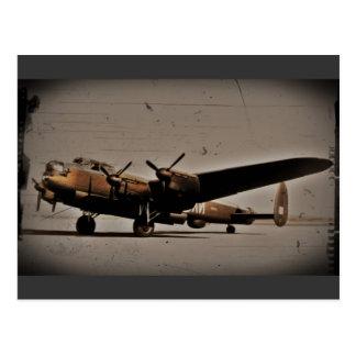 Britischer schwerer Bomber Postkarte