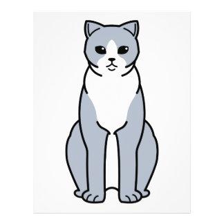 Britischer Shorthair zweifarbiger Katzen-Cartoon Flyer