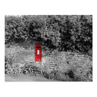 Britischer WandBriefkasten Postkarte