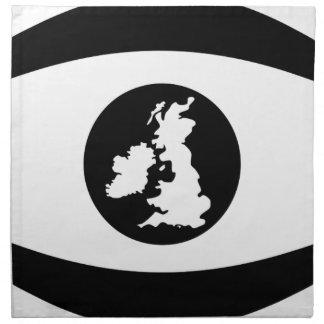 Britisches Auge Serviette