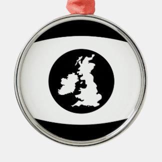 Britisches Auge Silbernes Ornament
