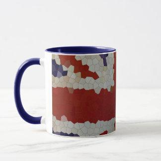 BRITISCHES britisches Flaggenmosaik des Tasse