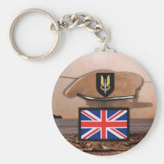britisches Dämpfungsregler-Abzeichenbarett Schlüsselanhänger