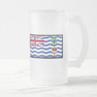 Britisches der Ozean-Gebiets-Flagge Mattglas Bierglas
