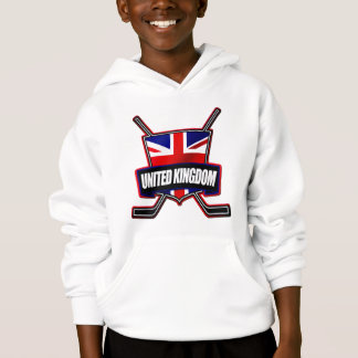 Britisches Eis-Hockey-Schild Hoodie
