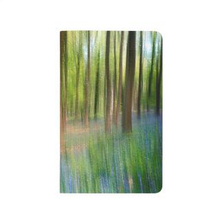 BRITISCHES England | Bluebell-Eichen-Waldland im Taschennotizbuch