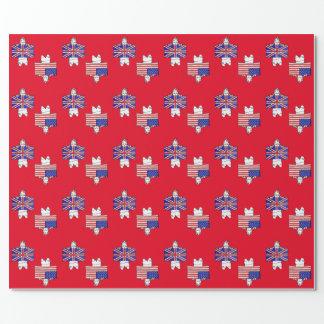 BRITISCHES Flaggen-Packpapier US - Rot Geschenkpapier
