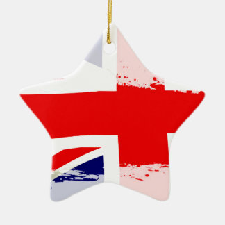 BRITISCHES Flaggen-Spritzen Keramik Stern-Ornament