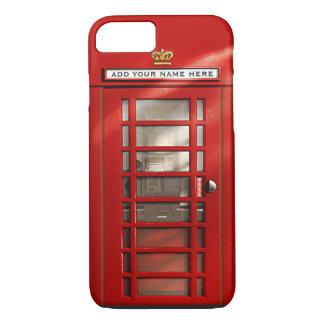 Britisches rotes Telefonzelle personalisiertes iPhone 7 Hülle