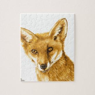 Britisches rotes wildes Leben Fox Puzzle