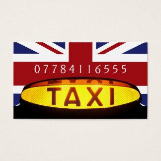 Britisches Taxi-Unternehmen Visitenkarte