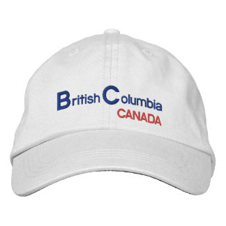British* Kolumbien Kanada Hut Bestickte Mützen