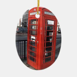 British Phonecell Ovales Keramik Ornament