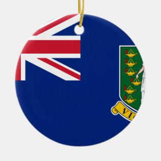 British- Virgin Islandsflagge Keramik Ornament