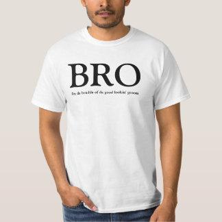 BRO - Bruder des Bräutigam-Hochzeits-T-Shirts T-Shirt