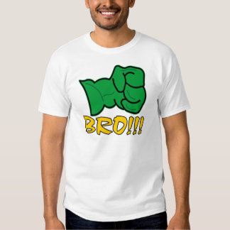 Bro große grüne Faust T Shirt