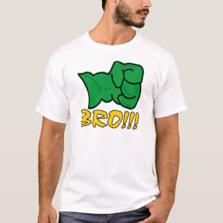 Bro große grüne Faust T-Shirt