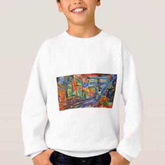 Broadway im Regen-Ölgemälde Sweatshirt