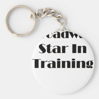 Broadway-Stern im Training Schlüsselanhänger