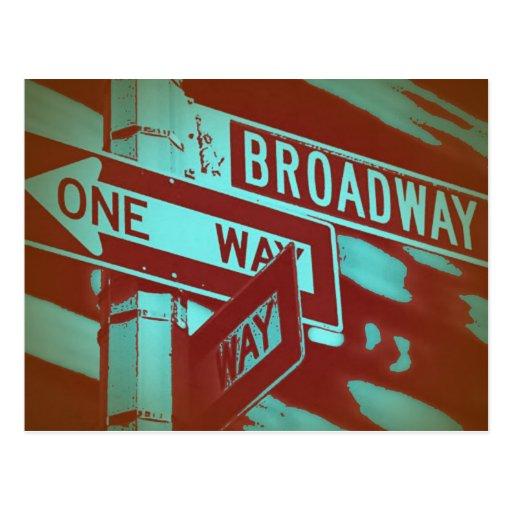 Broadway-Zeichen Postkarte