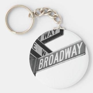 Broadway-Zeichen Schlüsselanhänger