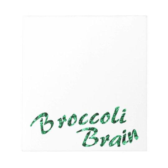 Broccoli brain notizblock