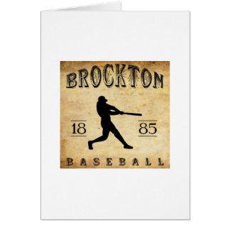 Brockton Massachusetts Baseball 1885 Karte