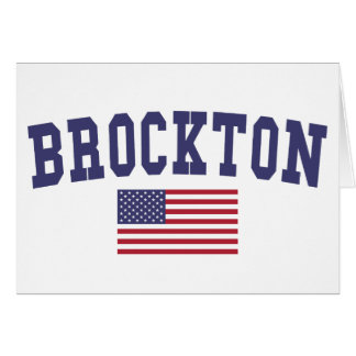 Brockton US Flagge Karte