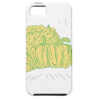 Brocolli Pfeffer-Zwiebel-Zeichnen Etui Fürs iPhone 5