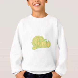 Brocolli Pfeffer-Zwiebel-Zeichnen Sweatshirt