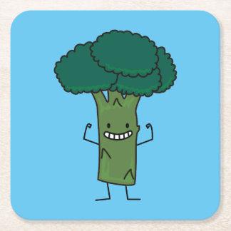 Brokkoli, der glückliches Baumkopf-Grüngemüse Rechteckiger Pappuntersetzer
