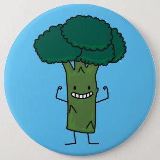 Brokkoli, der glückliches Baumkopf-Grüngemüse Runder Button 15,3 Cm