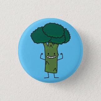 Brokkoli, der glückliches Baumkopf-Grüngemüse Runder Button 3,2 Cm
