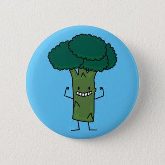 Brokkoli, der glückliches Baumkopf-Grüngemüse Runder Button 5,7 Cm