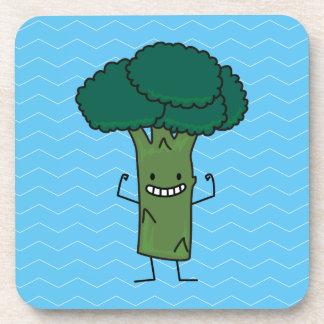 Brokkoli, der glückliches Baumkopf-Grüngemüse Untersetzer