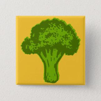Brokkoli-Grafik Quadratischer Button 5,1 Cm