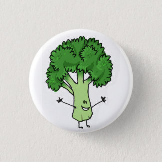 Brokkoli-Knopf Runder Button 2,5 Cm