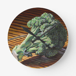 Brokkoli-Krone Runde Wanduhr