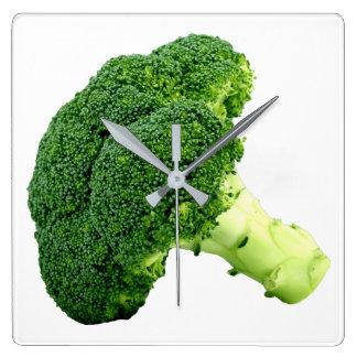 Brokkoli Quadratische Wanduhr