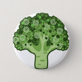 Brokkoli-vektorikone Runder Button 5,1 Cm