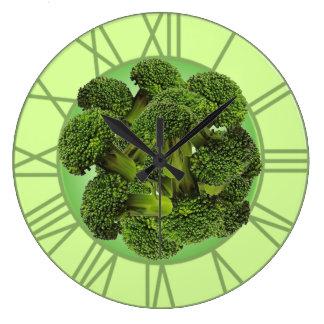 Brokkoli-Wanduhr Große Wanduhr