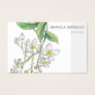 Brombeerstrauch-Blüten-personalisierte Visitenkarte